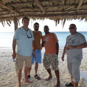 Our team on the beach in Cuba